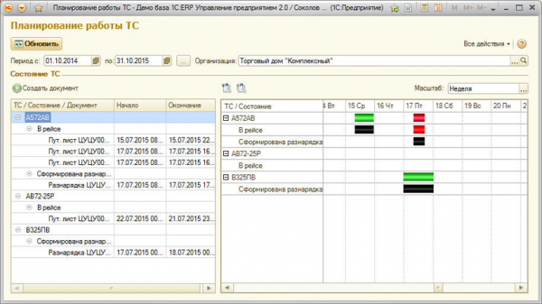 Управление автотранспортом для 1С:ERP