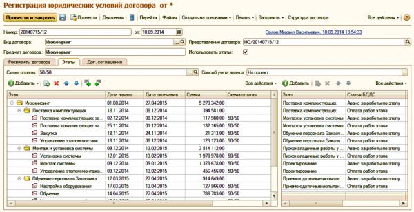 Управление проектными договорами в ERP Управление проектами